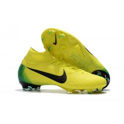 Nuevas Botas Nike Mercurial Superfly VI 360 Elite FG Amarillo Negro
