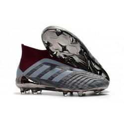 Paul Pogba adidas 2018 PP Predator 18+ FG Tacos Gris Rojo