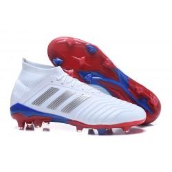 adidas 2018 Zapatos de fútbol Predator 18.1 Telstar Fg - Blanco Plata