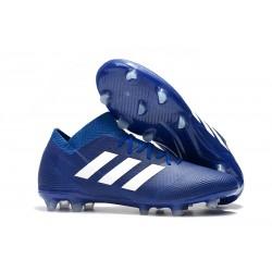 adidas Nemeziz Messi 18.1 FG Botas de fútbol - Azul Blanco