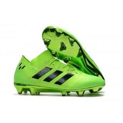 adidas Nemeziz Messi 18.1 FG Botas de fútbol - Verde Negro