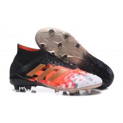 adidas 2018 Zapatos de fútbol Predator 18.1 Telstar Fg - Negro Rojo