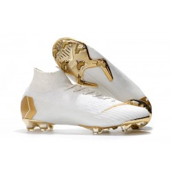 Nike Mercurial Superfly VI 360 Elite FG 2018 Botas - Blanco Oro