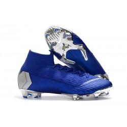 Nike Mercurial Superfly 6 Elite DF FG Zapatos de Fútbol - Azul Plata