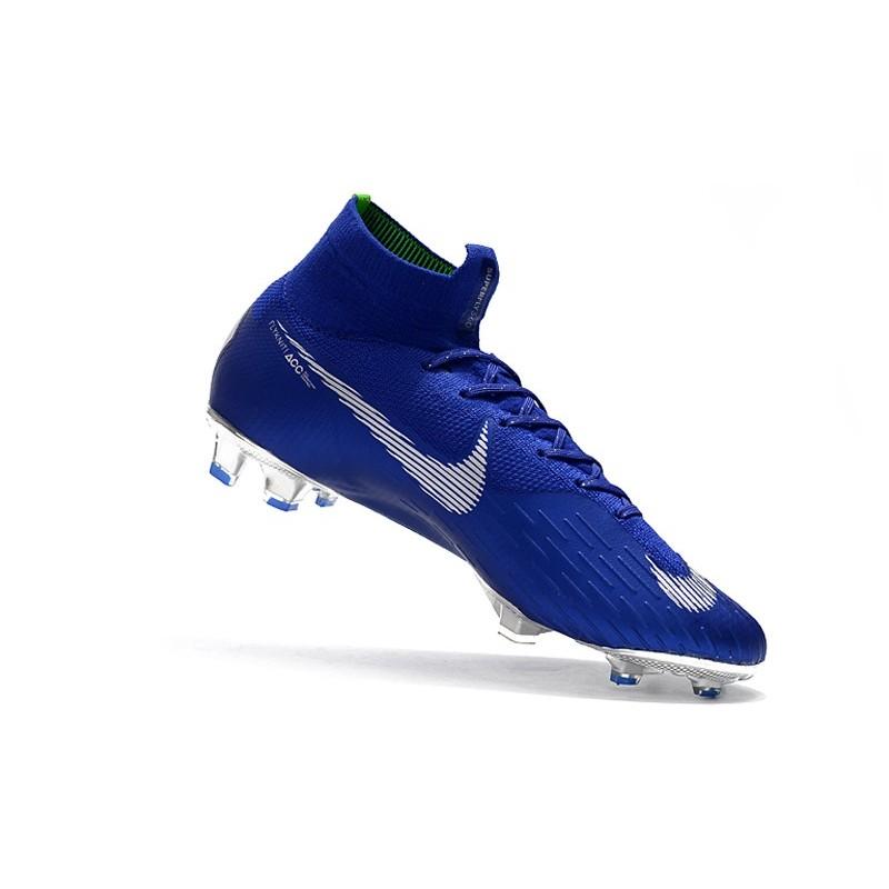 Nike 6 Fg Df Mercurial Zapatos Superfly Fútbol Elite Plata De Azul Ybfgv67y