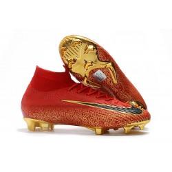 Nike Mercurial Superfly 6 Elite DF FG Zapatos de Fútbol - Rojo Oro