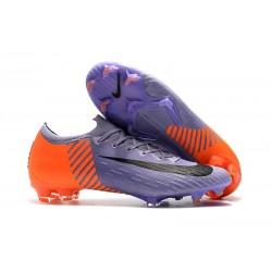 Nike Tacos de Futbol Mercurial Vapor XII Elite FG - Violeta Naranja Negro