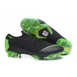 Nike Tacos de Futbol Mercurial Vapor XII Elite FG - Negro Verde
