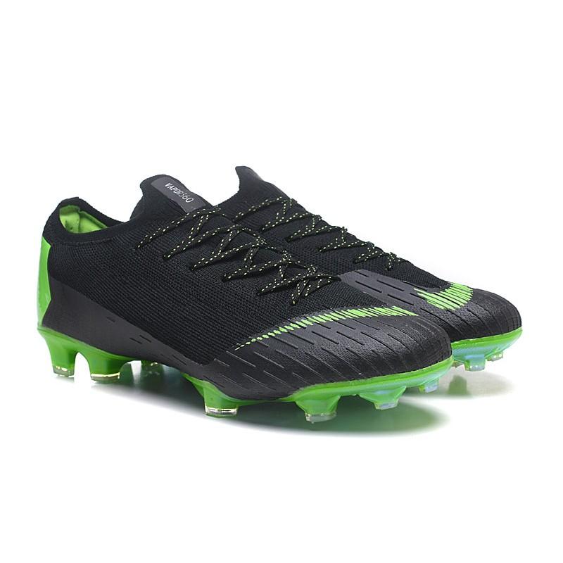 Nike Tacos de Futbol Mercurial Vapor XII Elite FG - Negro Verde 1e94b0611b2c2