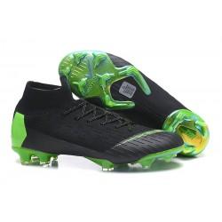 Nike Mercurial Superfly 6 Elite DF FG Zapatos de Fútbol - Negro Verde