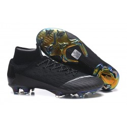 Nike Mercurial Superfly 6 Elite DF FG Zapatos de Fútbol - Negro Blanco