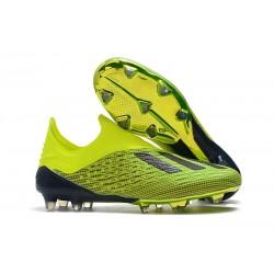 Botas de Fútbol X 18+ de adidas - Verde Nergo