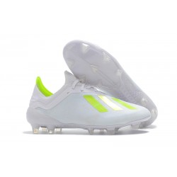 Tacón de Fútbol adidas X 18.1 FG - Blanco Amarillo