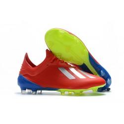 Tacón de Fútbol adidas X 18.1 FG - Rojo Plata