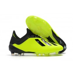 Tacón de Fútbol adidas X 18.1 FG - Amarillo Negro