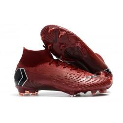 Nike Mercurial Superfly 6 Elite DF FG Zapatos de Fútbol - Carmesí Negro