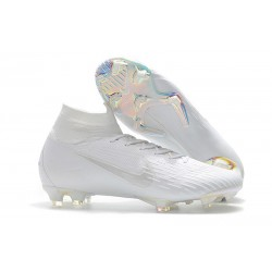 Nike Mercurial Superfly 6 Elite DF FG Zapatos de Fútbol - Blanco