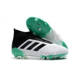 Adidas Predator 18+ FG Botas y Zapatillas de Fútbol - Blanco Verde Negro