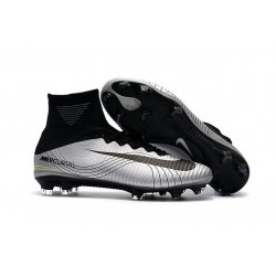 Nike Mercurial Superfly V Dynamic Fit FG Zapatillas -Plata Negro