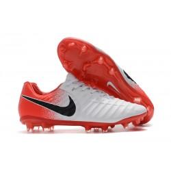 Nike Botas de Futbol Tiempo Legend VII Elite FG - Blanco Rojo Negro