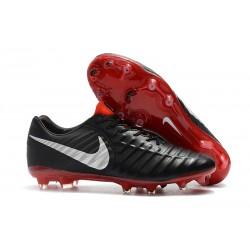 Nike Botas de Futbol Tiempo Legend VII Elite FG - Negro Rojo