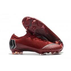 Nike Mercurial Vapor 12 Elite FG ACC Zapatillas de Fútbol - Rojo Negro
