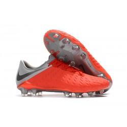 Nike Hypervenom Phantom III FG Zapatillas de Futbol - Rojo Gris