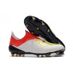 Botas de Fútbol X 18+ de adidas - Blanco Rojo