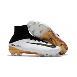 Nike Mercurial Superfly V Dynamic Fit FG Zapatillas -Blanco Oro