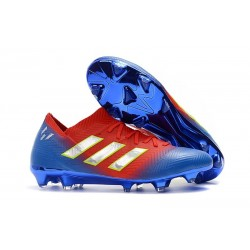 adidas Nemeziz Messi 18.1 FG Botas de fútbol - Rojo Azul Metal