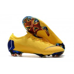 Nike Mercurial Vapor 12 Elite FG ACC Zapatillas de Fútbol - Amarillo Azul