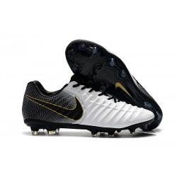 Nike Botas de Futbol Tiempo Legend VII Elite FG - Blanco Negro