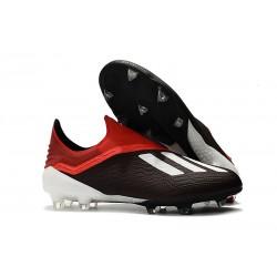 Botas de Fútbol X 18+ de adidas - Negro Blanco Rojo
