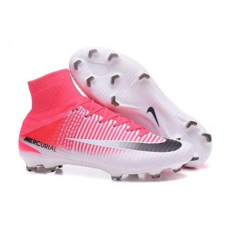 3bb1d0a926cb3 Nike Botas de fútbol Mercurial Superfly V Tacos FG -Rojo Blanco