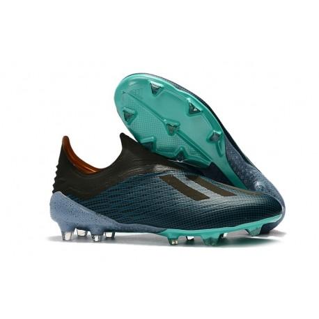 basura Contestar el teléfono cebolla  Botas de Fútbol X 18+ de adidas - Azul Negro