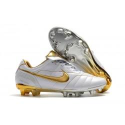 Nike Botas de Futbol Tiempo Legend VII Elite FG - Blanco Oro