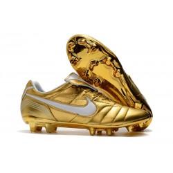 Nike Botas de Futbol Tiempo Legend VII Elite FG - Oro Blanco