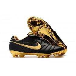 Nike Botas de Futbol Tiempo Legend VII R10 Elite FG - Negro Oro