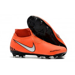 Nike Tacos de Futbol Phantom VSN Elite DF FG - Naranja Bianca Plata