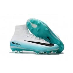 Nike Botas de fútbol Mercurial Superfly V Tacos FG -Blanco Azul