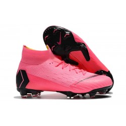 Nike Mercurial Superfly 6 Elite DF FG Zapatillas - Rosa Negro