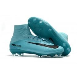 Nike Botas de fútbol Mercurial Superfly V Tacos FG -Azul Negro