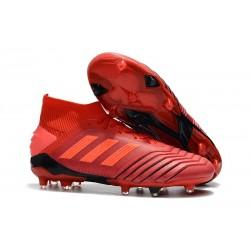 Tacón de Fútbol adidas Predator 19.1 FG - Rojo
