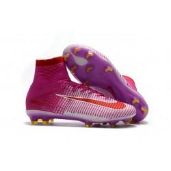Nike Botas de fútbol Mercurial Superfly V Tacos FG -Rosa Rojo