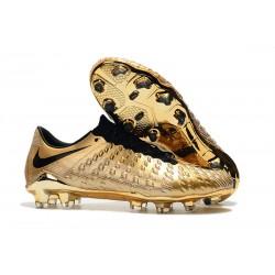 Nike Hypervenom Phantom III FG Zapatillas de Futbol - Oro Negro
