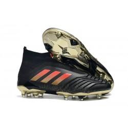 Adidas Predator 18+ FG Botas y Zapatillas de Fútbol - Negro Rosso