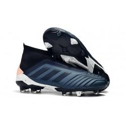 Adidas Predator 18+ FG Botas y Zapatillas de Fútbol - Cian Negro