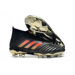 adidas Zapatos de fútbol Predator 18.1 Fg - Negro Rojo