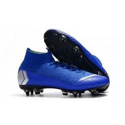 Botas Nike Mercurial Superfly VI Elite Anti-Clog SG-Pro Azul Plata