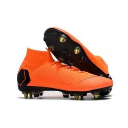 Botas Nike Mercurial Superfly VI Elite Anti-Clog SG-Pro Naranja Negro